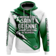 Hoodie J'arrêterai d'aimer Saint Etienne quand j'arrêterai de respirer - Supporters Saint Etienne