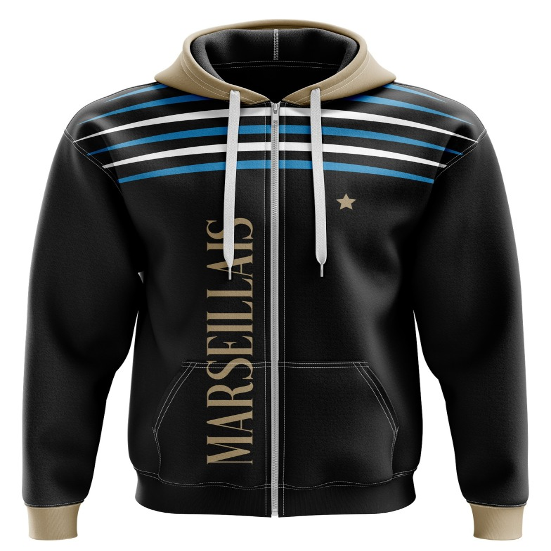 Zipped hoodie Marseillais -...