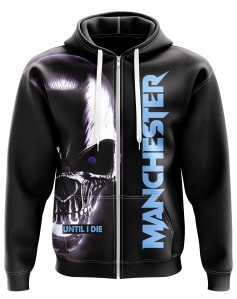 Hoodie Manchester until I die - Supporters Manchester City