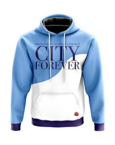 Hoodie Yesterday, today and above all tomorrow City forever - Supporters Manchester City