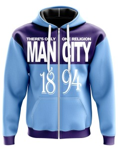 Zipped Hoodie There's only one religion Man City - Supporters Manchester City
