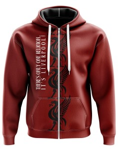 Zipped hoodie  There's only one religion... It's Liverpool - Supporters Liverpool