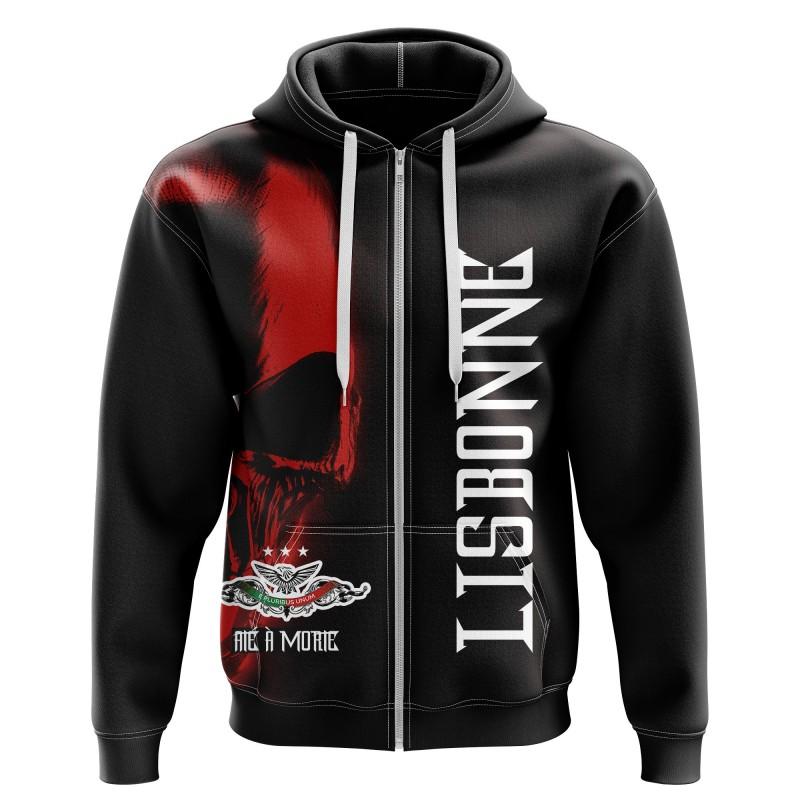 Zipped hoodie Lisboa até à...