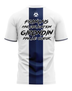 T-shirt Français par obligation Girondin par le coeur - Supporters Bordeaux