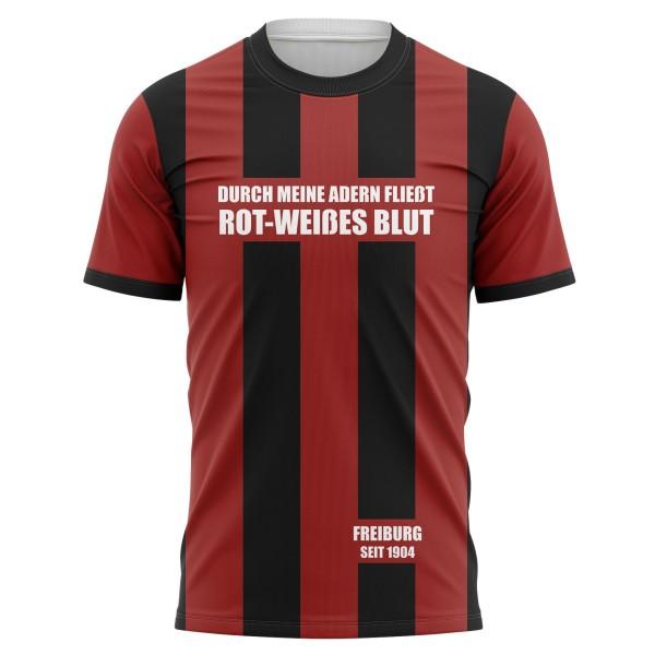 T-shirt Durch meine Adern fließt rot-weißes Blut - Fans Freiburg