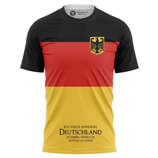 T-shirt Ich werde aufhören, Deutschland zu lieben, wenn ich aufhöre zu atmen - Supporters Germany
